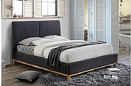 Helsinki Fabric Bed Frame (Grey) - Birlea Furniture