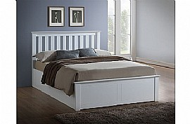Phoenix Ottoman Bed Frame (White) - Birlea Furniture