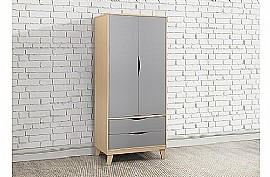 Kingston Bedroom Furniture (Beech & Grey) - Birlea Furniture