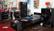 Knightsbridge Teen Range (Black High Gloss) - Welcome Furniture