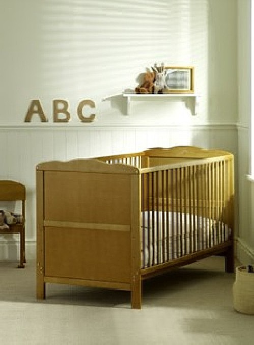 Louise Cot Bed complete with Mattress (Pine) - Siesta Trading