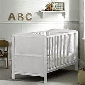 Louise Cot Bed (White)