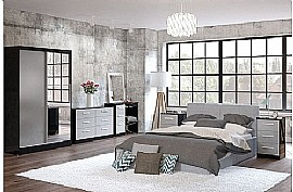 Lynx (Black & Grey Gloss) Bedroom Furniture Range - Birlea Furniture Ltd