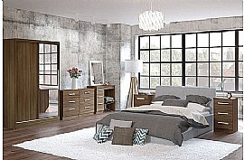 Lynx (Walnut) Bedroom Furniture Range - Birlea Furniture Ltd