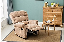 Manhattan Fabric Recliner Chair (Wheat) - Birlea Furniture