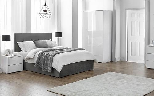 Monaco White Gloss Bedroom Furniture, White Gloss Bedroom Furniture Uk