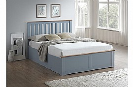 Phoenix Ottoman Bed Frame (Stone Grey) - Birlea Furniture