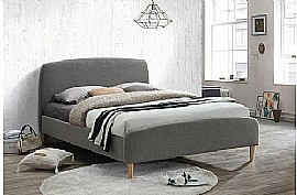 Quebec Fabric Bed Frame (Grey) - Birlea