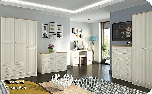 Vienna (Bordeaux Oak with Cream Ash) Bedroom Range - Welcome Furniture