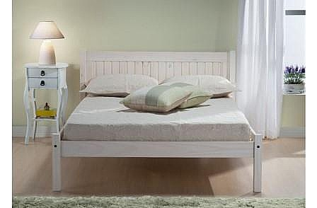 Rio White Washed Pine Bed Frame - Birlea Furniture