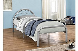 Solo Single Bed (Silver Finish) - Birlea Furniture