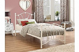 Sophia Single Bed Frame (Ivory / Cream) - Birlea