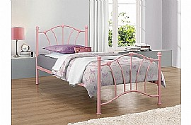 Sophia Single Bed Frame (Pink) - Birlea Furniture