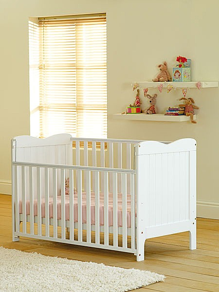 Stacey Cot Bed (White) - Siesta Trading