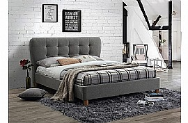 Stockholm Fabric Bed Frame (Grey) - Birlea