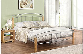 Tetras  Bed Frame (Beech/Silver finish)