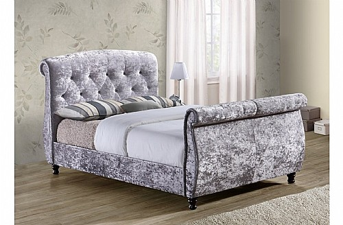 Toulouse Fabric Bed Frame (Steel) - Birlea Furniture