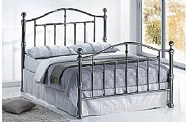 Victoria Bed Frame (Black Nickel) - Birlea Furniture