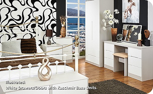 Monaco White Bedroom Range (14 combinations available) - Welcome Furniture