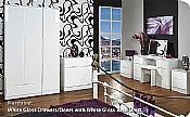 Monaco White Gloss Bedroom Furniture - Welcome