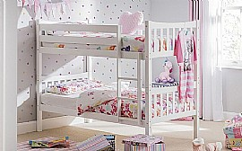 Zodiac Bright White Bunk Bed
